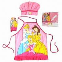 Cheap Kid's Apron Set, Customized Colors are Accepted for sale