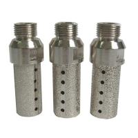 Cheap Vacuum Brazed Diamond CNC Tooling Finger Bits Marble And Soft Stone Use for sale