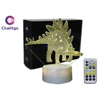 Cheap ABS 3D LED Night Light , 3D Illusion Table Lamp Dinosaur Toys AA Battery for sale