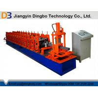 China Hydraulic Cutting Steel Storage Rack Roll Forming Machine With With 5 Ton Decoiler on sale