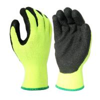 Buy cheap L1301 10Gauge Hi-Viz Yellow Acrylic Liner, with Black Latex Palm Coating, from wholesalers