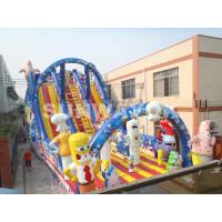 Cheap Large outdoor commercial Inflatable Slide With Sunshine Arch For Garden for sale