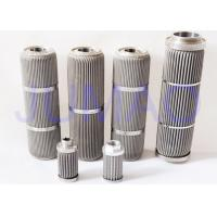 Cheap Customized Ss Sintered Pleated Filter Cartridge , Oil Filter Cylinders ISO Approved for sale