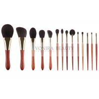 Cheap Goat Natural Hair Makeup Brushes Basic Daily Set With Special Luxury Ebony Handle for sale