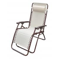 Cheap Simplified Folding Leisure Chairs / Steel Tube With Textilene Fabric Beach Chair for sale