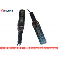 Cheap Manual Metal Hand Held Security Detector 20cm Area With Sound / Vibration Alarming for sale