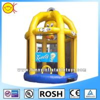 Cheap Cute Yellow Birdcage Inflatable Combo Bouncers For Kid Playing for sale