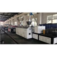 China Conical Double Extruder PVC Foam Board Extrusion Line , PVC Foam Board Making Machine on sale