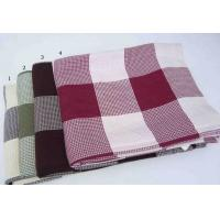 Cheap custom colored Plaid Bamboo Baby Blanket / Soft bed cover With Self-Folded Hem for sale