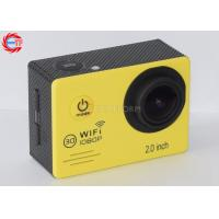 Cheap Waterproof Full HD Sports Action Camera ,  Esj7000 Yellow Sports Helmet Camera wholesale
