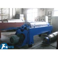 China Horizontal Spiral Discharge Industrial Decanter Centrifuge With Continuous Deposition on sale