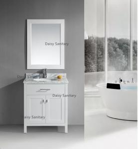 China Crack Resistance Vessel Sink Vanity , Non - Deformable 24 Inch Bathroom Vanity on sale