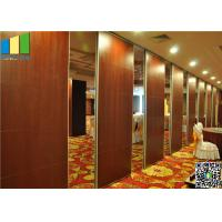 Cheap Wooden Surface Folding Partiion Walls , Operable Partition Walls wholesale