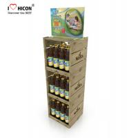 Cheap Your Logo Wine Display Stand Metal Drinks Or Wine Retail Bottle Store Display for sale