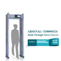 Cheap IP55 24 detection zones Door Frame Metal Detector Walk Through Airport check for sale