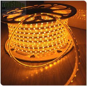 Hot sale 50m yellow AC led strip  220V 5050 SMD 60LED/M Manufacturer