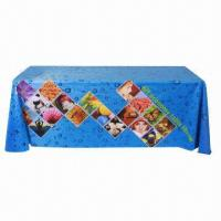 Cheap Large format table wrap banner, with polyester fabric, used in expo, speech  for sale