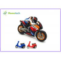 Cheap Small Size Promotion Motorcycle Usb Flash Drive , Moto Car Soft Plastic Usb Drives / U Disk for sale