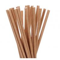 China Washable Reusable Kraft Paper Straws Smooth Cutting Thick Paper Straws on sale