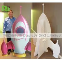 Buy cheap Cardboard Standee Display Stand Funny Rocket Shape POS Retail Hanging Display from wholesalers