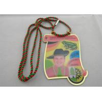 Quality Brass / Copper / Stainless Steel / Aluminum Narrenzunft Murg Carnival Medal with Two Color Cord wholesale