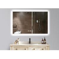 Cheap Dimmable Anti Fog LED Illuminated Bathroom Mirror With Demister 600 X 900mm Size for sale