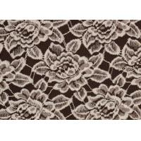 Cheap OEM / ODM Customied Brushed Floral Lace Fabric By The Yard Anti-Static CY-LQ0006 for sale