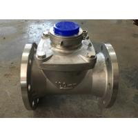 Stainless Steel Woltman Type Water Meter for Irrigation , Dry Type Domestic Water Meter