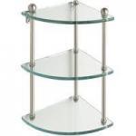 Cheap Tempered Glass Corner Shelves (TGS-019) for sale