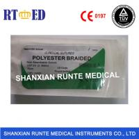 China Surgical Medical Polyester sutures with needle,  Non Absorbable sterial, safe material of polyamide,CE&ISO Approval on sale