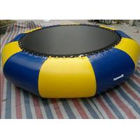 Cheap Outdoor 0.9mm Pvc Tarpaulin Inflatable Watertrampoline For Water Sports Game for sale