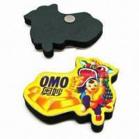 Cheap Refrigerator magnet, made of paper or rubber, flat or 3D cubic for sale
