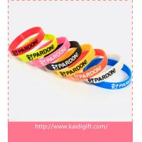 Cheap Promotional ink filled silicone bracelet wholesale
