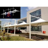 Cheap White Membrane Surfaced Car Parking Tensile Structure Steel Cable Tightened wholesale