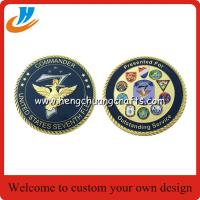 Cheap 2017 new design challenge coins/65mm military coins cheap custom for sale