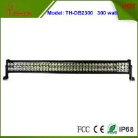Cheap 300 Watt 50 Inch Double Row LED Light Bar in optional spot beam,flood beam or combo beam for sale