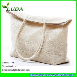 Cheap cheap white paper straw handbag custom beach bags for sale
