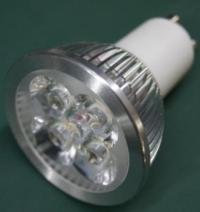China 4w 4pcs 1w led GU10 led spotlight 310lm aluminum+pc siliver AC85-265V on sale
