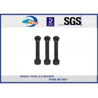 Cheap durable high tensile strength railroad bolts and nuts for railway construction for sale