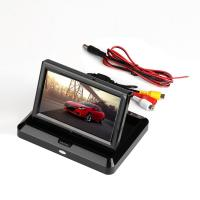 Cheap LCD Dashboard Car Rear View Monitor 320g Weight 2 Video RCA Input ISO 9001 for sale