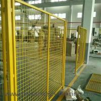 Cheap Yellow Color Welded Workshop Metal Fence / Warehouse Isolation Fence for sale
