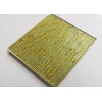 Hot Melt Fused Glass Wall Art Panels , Laminated Wire Glass For Partition