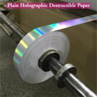 Cheap Ultra Destructible Tamper Evident Label Material , 3D Hologram Stickers for sale