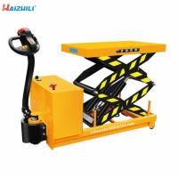 Cheap Battery Operated Portable 500KG Full Electric Scissor Lift Table Trolly for sale