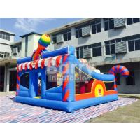 Cheap 0.55mm PVC Kids Inflatable Outdoor Playground / Toddler Bounce House for sale