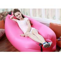 Cheap Outdoor Inflatable Toys 225*85cm Fast Beach Sleeping Bag Lazy Lounge Bed 14 Colors for sale
