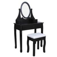 China French classic dresser,dressing table and mirror,mirrored vanity table,stool,wooden hand carved on sale