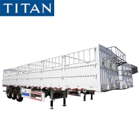 Cheap 60 ton bulk cargo semi trailer 40 feet flatbed trailer with removable sides for sale