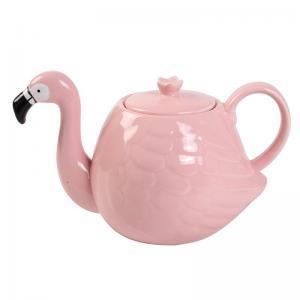 Cheap White Wedding 780ml Pot Flamingo Tea Set for sale
