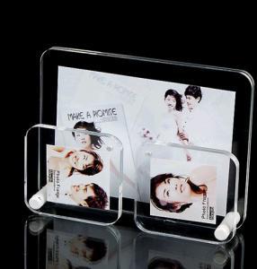 China Black Pretty Clear Acrylic Photo Frame / Wedding Photo Frame Standard Size on sale